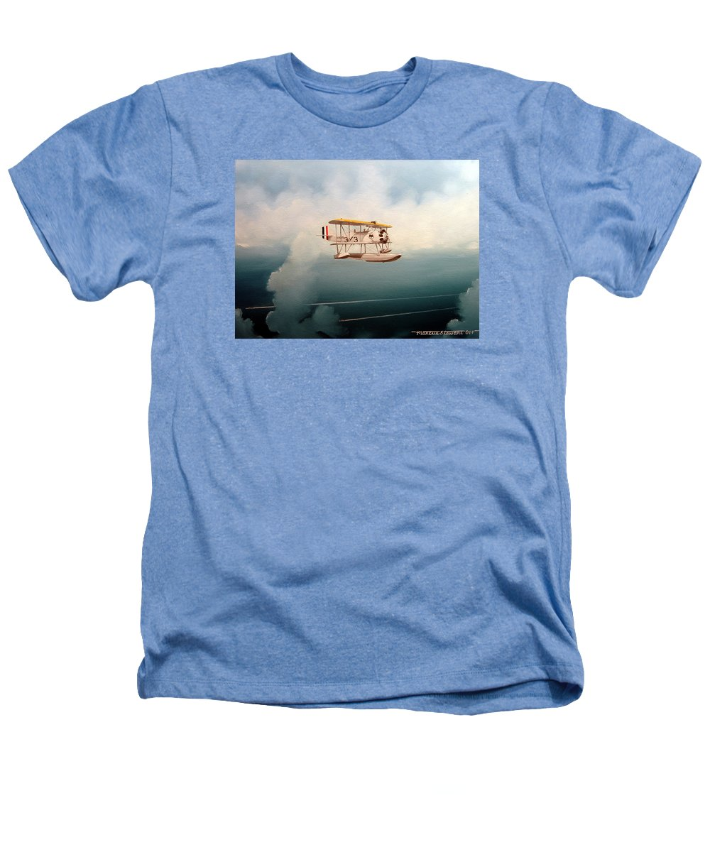 Military Heathers T-Shirt featuring the painting Eyes Of The Fleet by Marc Stewart