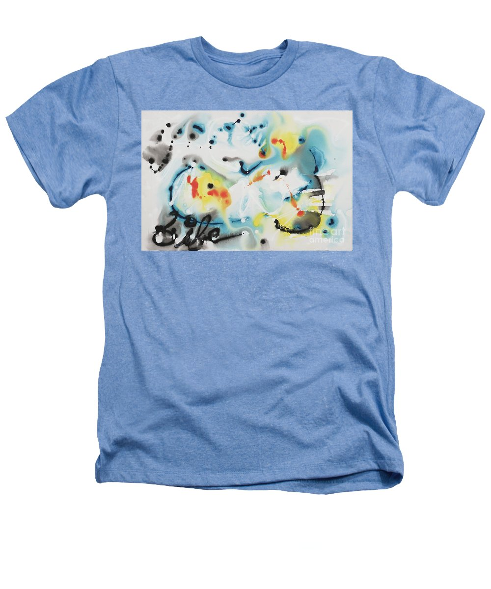 Life Heathers T-Shirt featuring the painting Life by Nadine Rippelmeyer