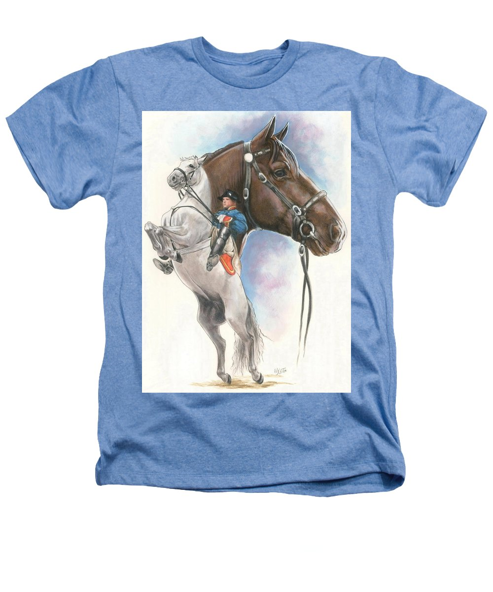 Equus Heathers T-Shirt featuring the painting Lippizaner by Barbara Keith