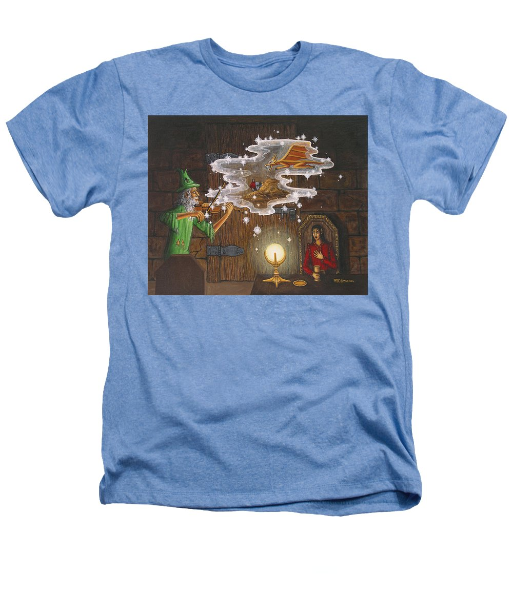 Fantasy Heathers T-Shirt featuring the painting Magic Violin by Roz Eve