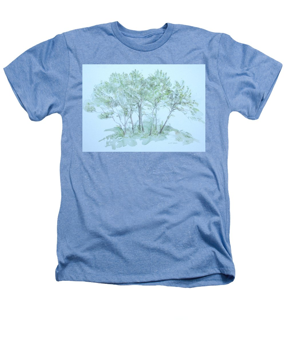 Trees Heathers T-Shirt featuring the painting Outer Banks by Leah Tomaino