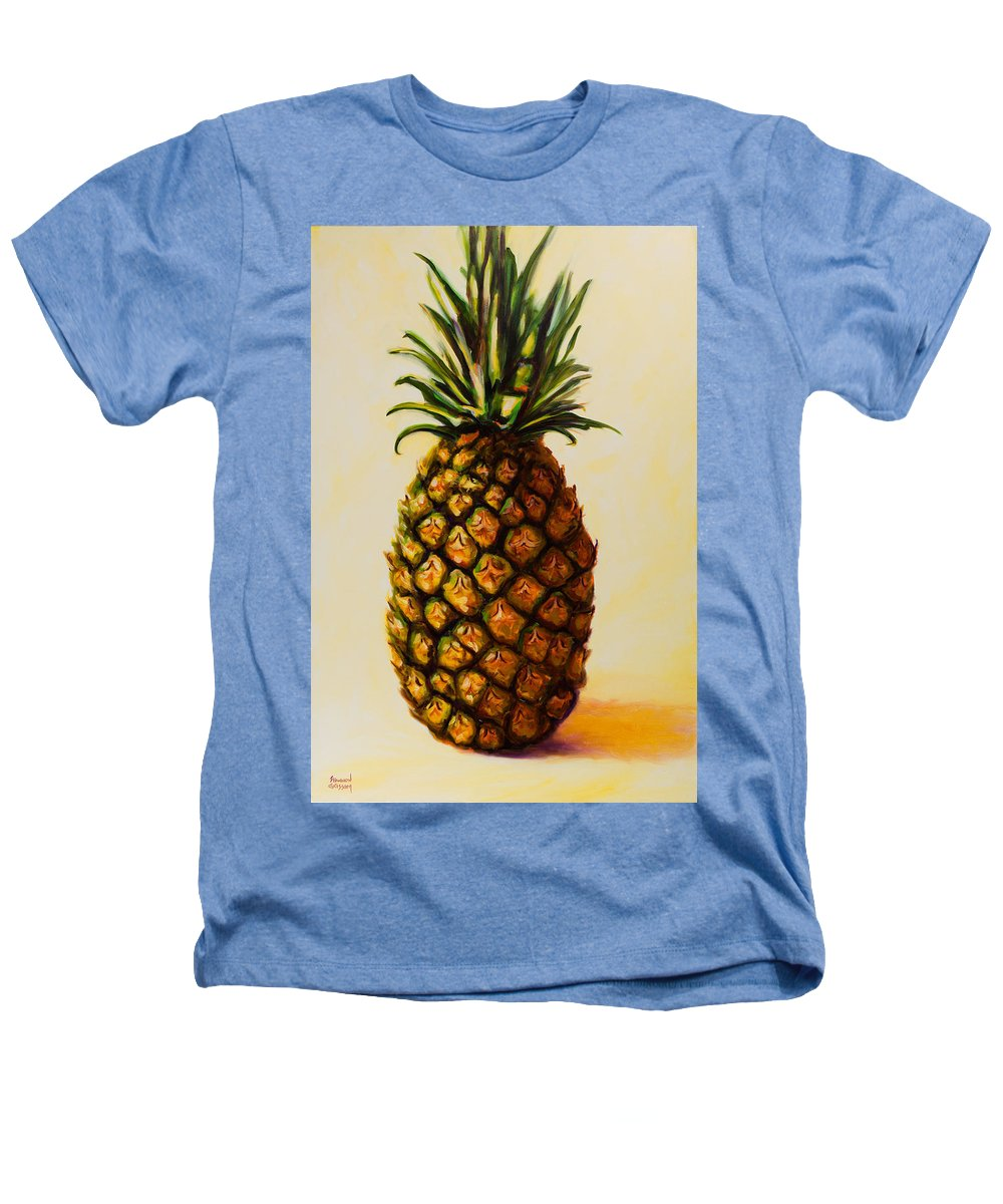 Pineapple Heathers T-Shirt featuring the painting Pineapple Angel by Shannon Grissom