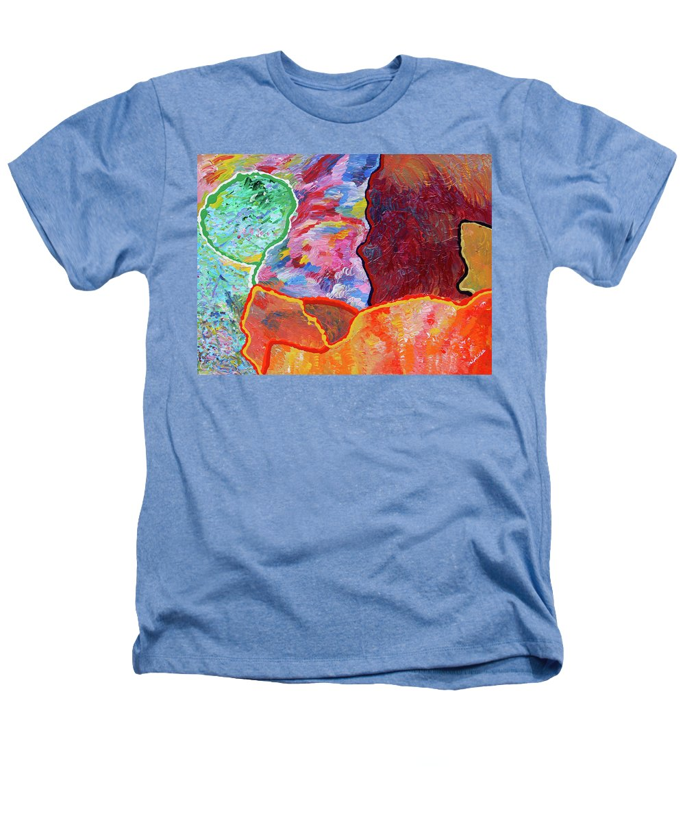 Fusionart Heathers T-Shirt featuring the painting Puzzle by Ralph White