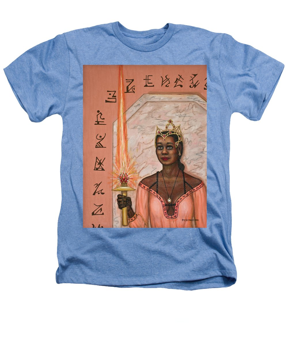 Fantasy Heathers T-Shirt featuring the painting Queens New Toy by Roz Eve