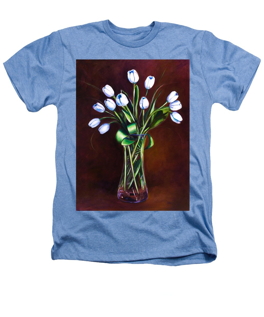 Shannon Grissom Heathers T-Shirt featuring the painting Simply Tulips by Shannon Grissom