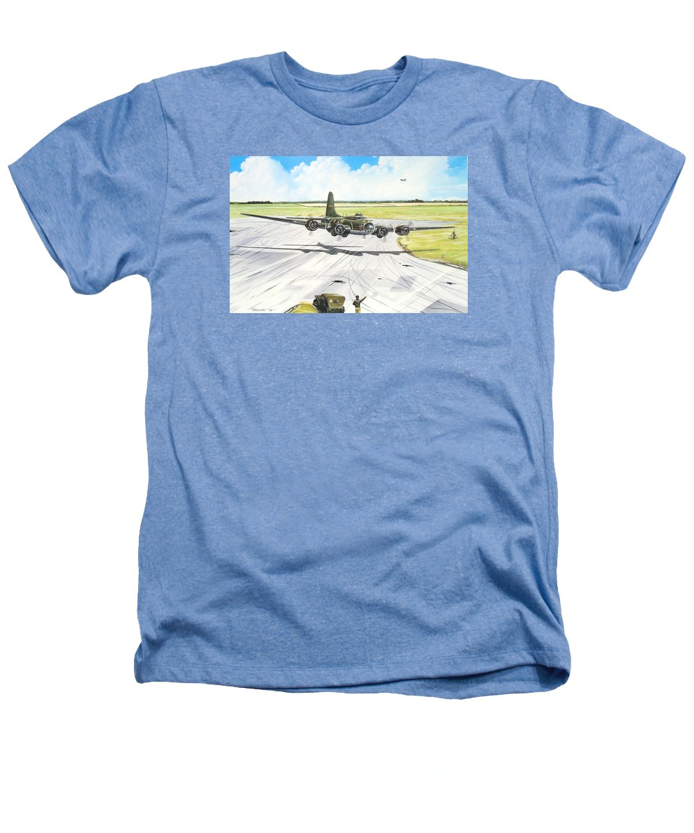 Military Heathers T-Shirt featuring the painting The Memphis Belle by Marc Stewart