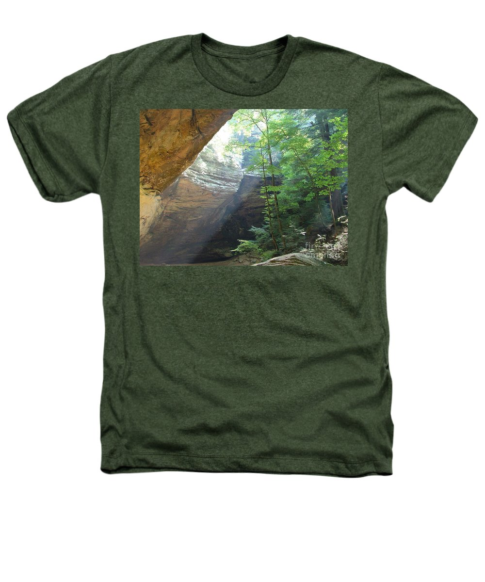 Photograph Heathers T-Shirt featuring the photograph Ash Cave by Mindy Newman
