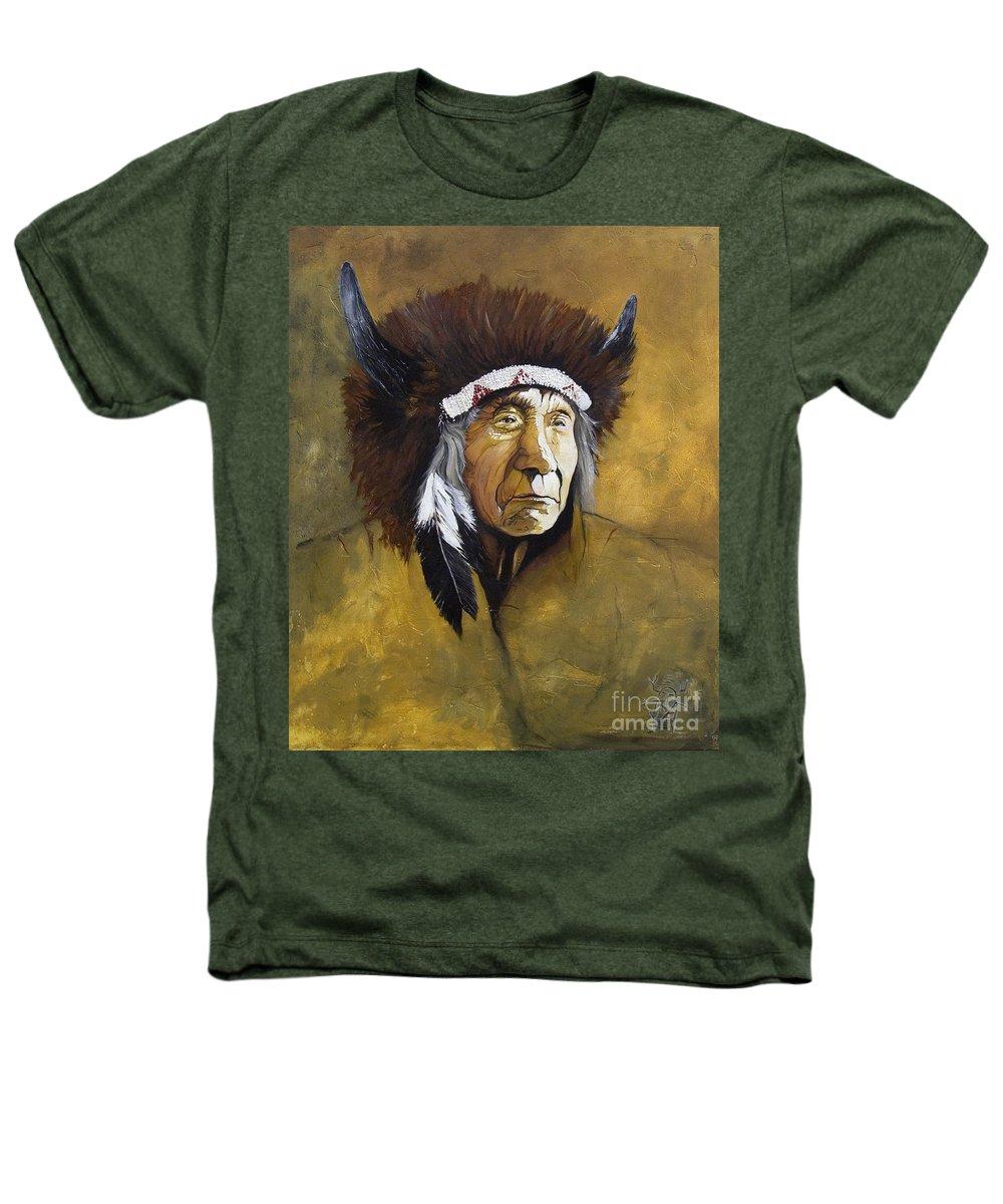 Shaman Heathers T-Shirt featuring the painting Buffalo Shaman by J W Baker