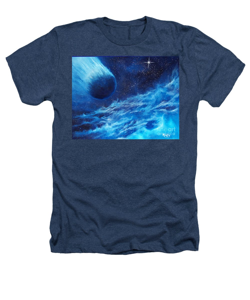 Astro Heathers T-Shirt featuring the painting Comet Experience by Murphy Elliott