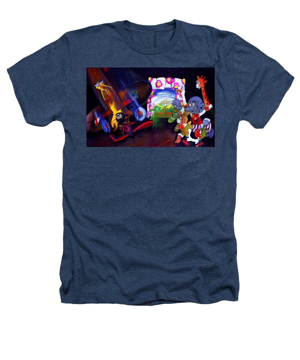 Cartoon Heathers T-Shirt featuring the painting Watch With Mother by Charles Stuart