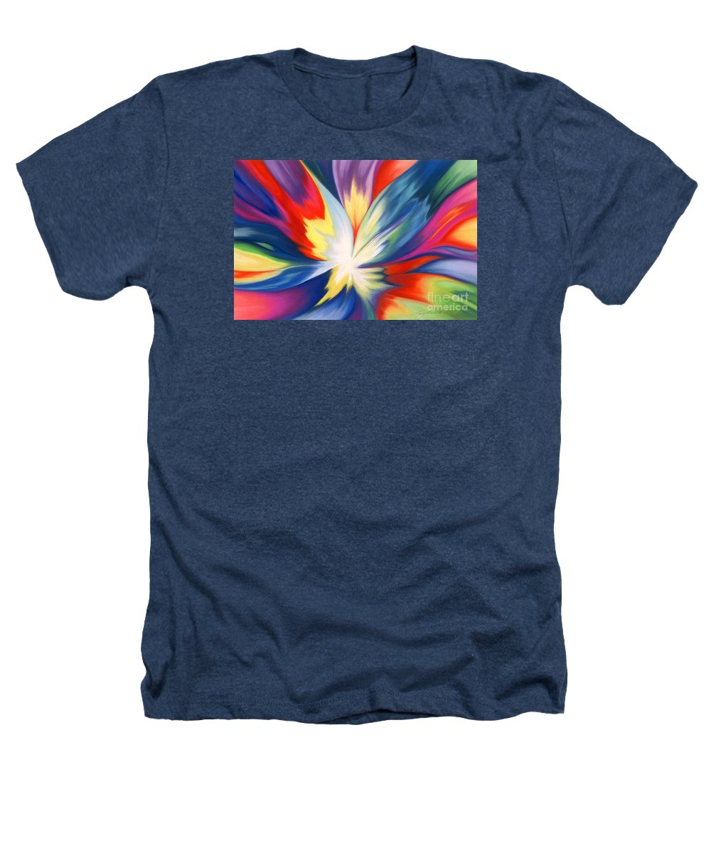 Abstract Heathers T-Shirt featuring the painting Burst Of Joy by Lucy Arnold