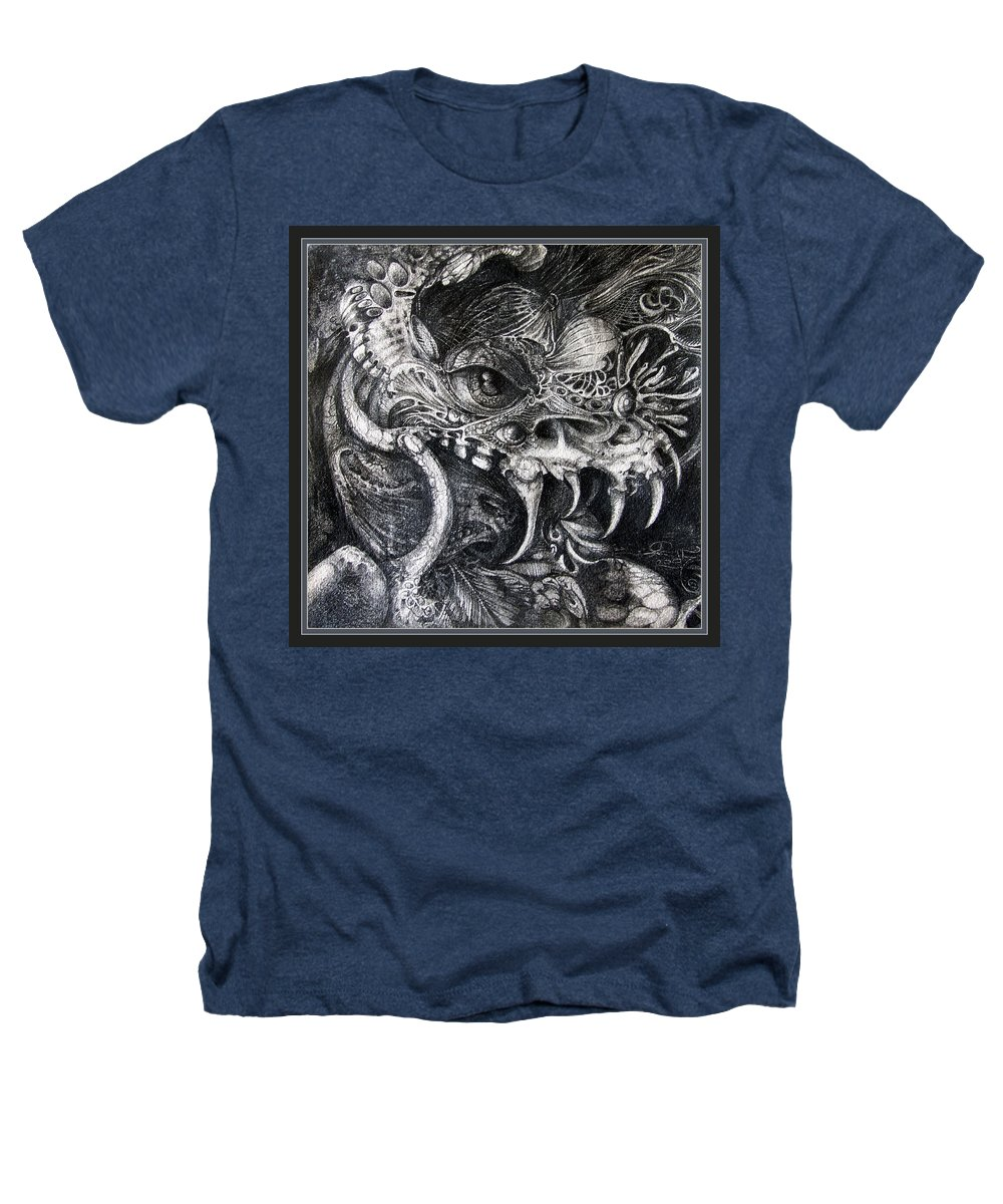 Heathers T-Shirt featuring the drawing Cherubim Of Beasties by Otto Rapp