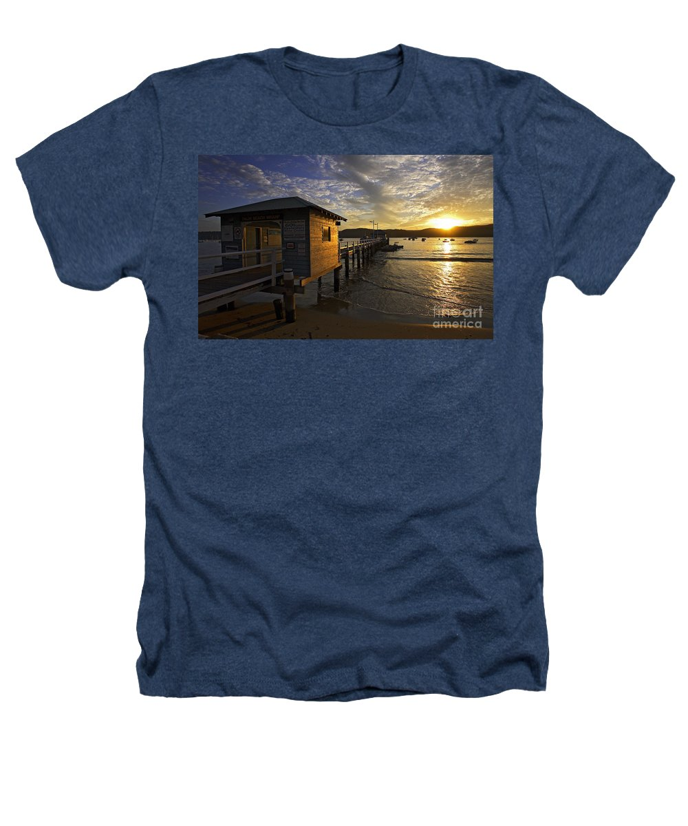 Palm Beach Sydney Australia Sunset Water Pittwater Heathers T-Shirt featuring the photograph Palm Beach Sunset by Avalon Fine Art Photography