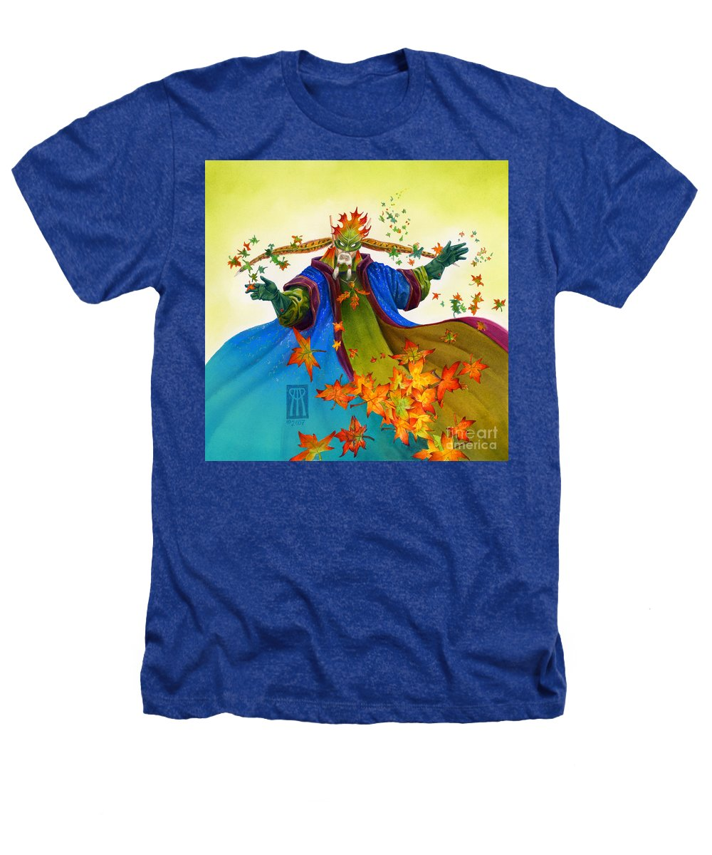 Elf Heathers T-Shirt featuring the painting Elven Mage by Melissa A Benson