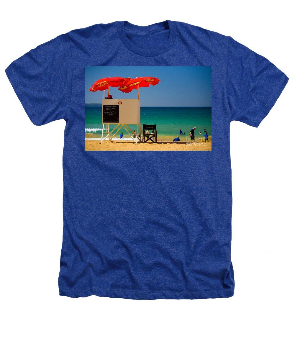 Palm Beach Sun Sea Sky Beach Umbrellas Heathers T-Shirt featuring the photograph Palm Beach Dreaming by Avalon Fine Art Photography