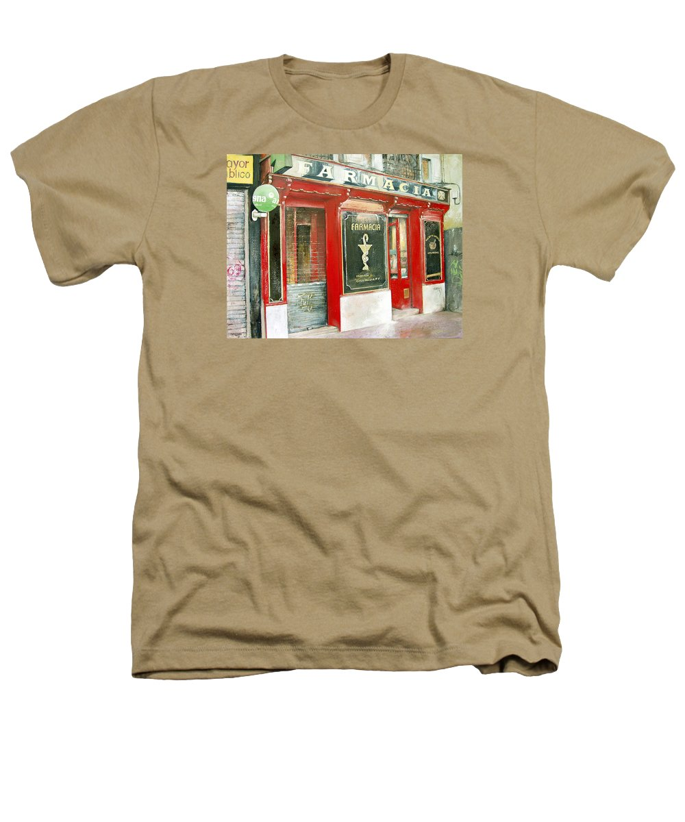 Farmacia Heathers T-Shirt featuring the painting Old Pharmacy by Tomas Castano