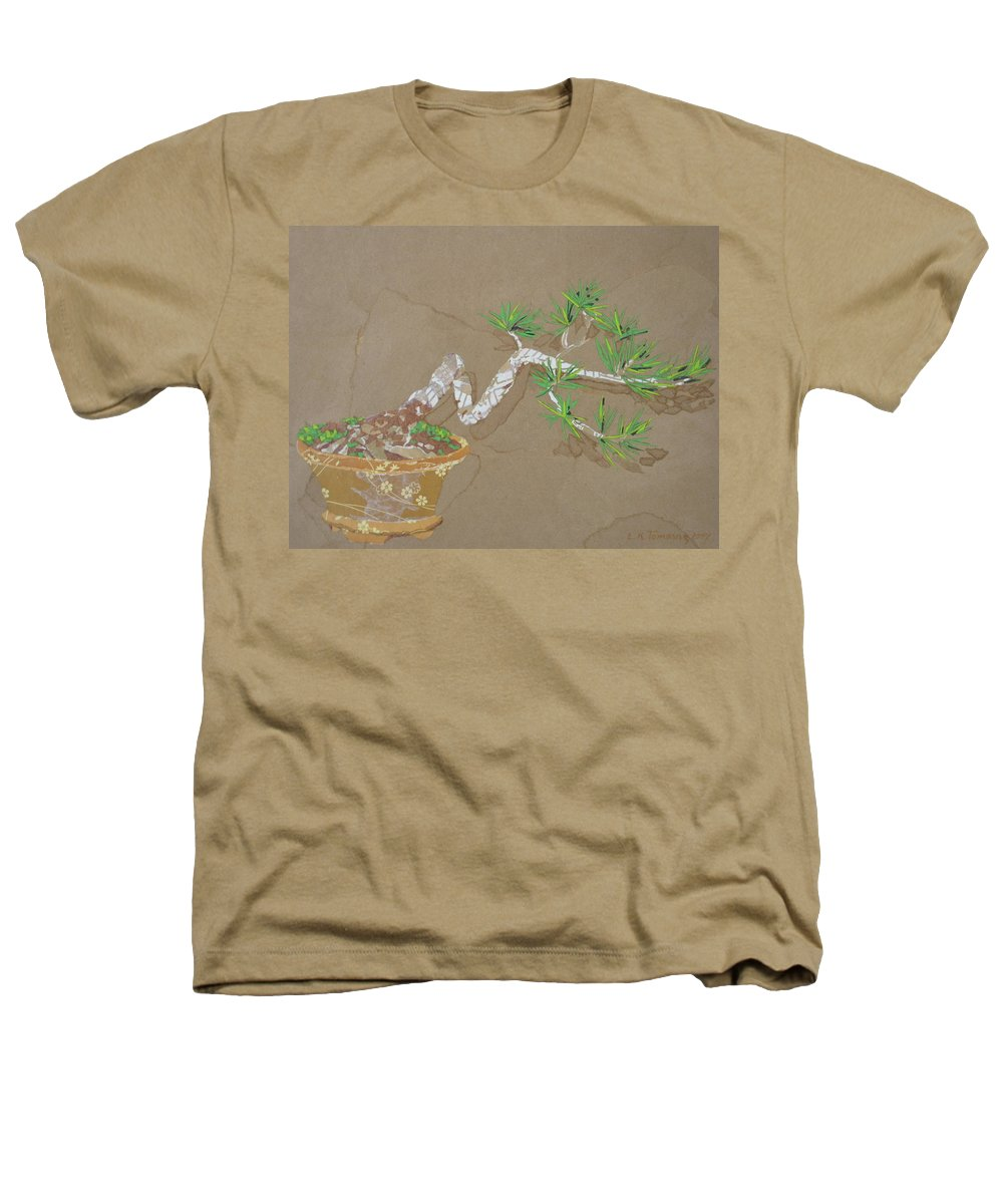 Banzai Tree Heathers T-Shirt featuring the painting For Inge by Leah Tomaino