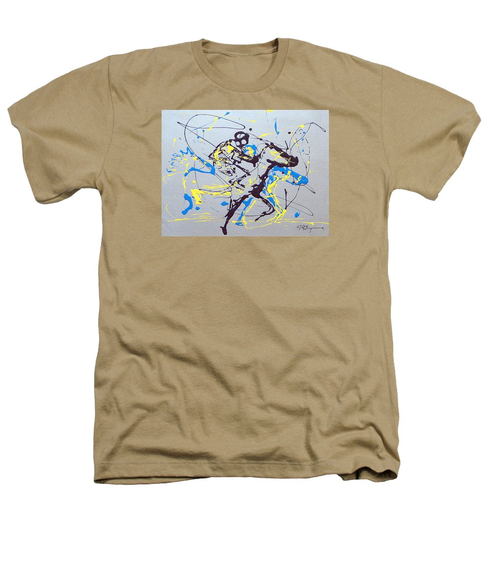 Kentucky Derby Heathers T-Shirt featuring the painting Great Day In Kentucky by J R Seymour