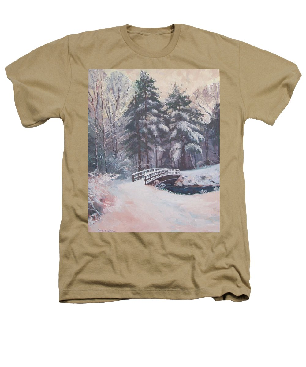 Landscape Heathers T-Shirt featuring the painting Icy Stream by Dianne Panarelli Miller
