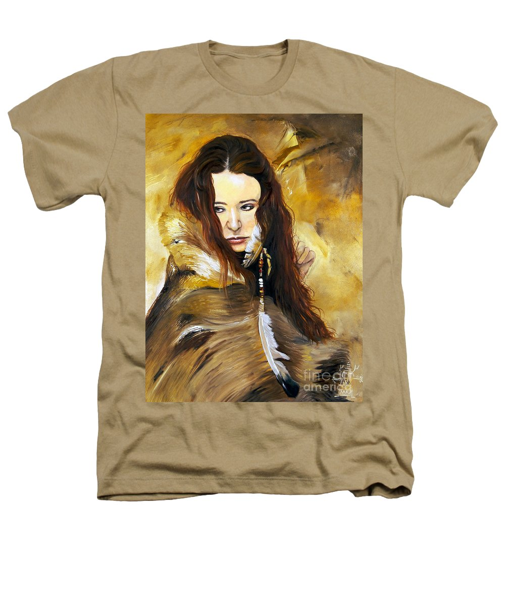 Southwest Art Heathers T-Shirt featuring the painting Lament by J W Baker