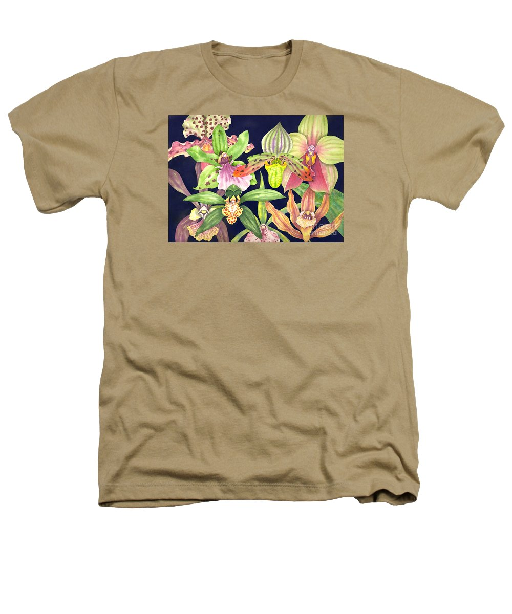 Orchids Heathers T-Shirt featuring the painting Orchids by Lucy Arnold