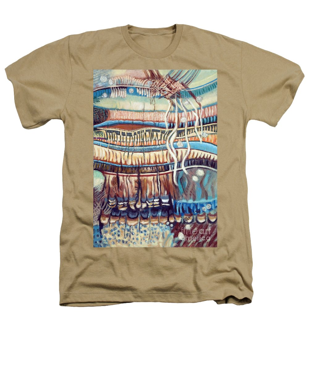 Abstract Heathers T-Shirt featuring the painting Palm Contractions by Kerryn Madsen-Pietsch
