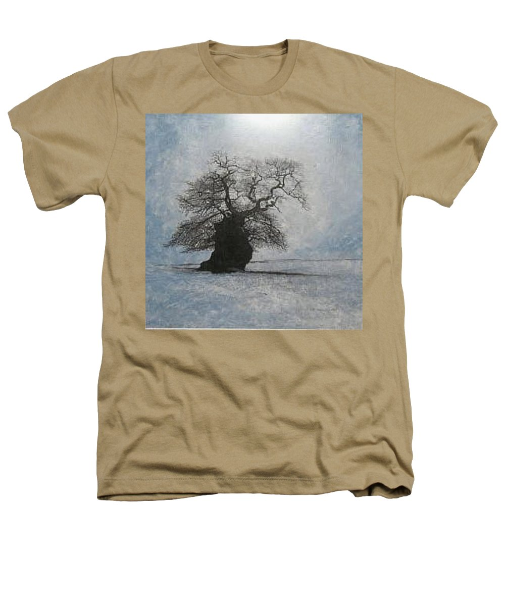 Silhouette Heathers T-Shirt featuring the painting Stilton Silhouette by Leah Tomaino