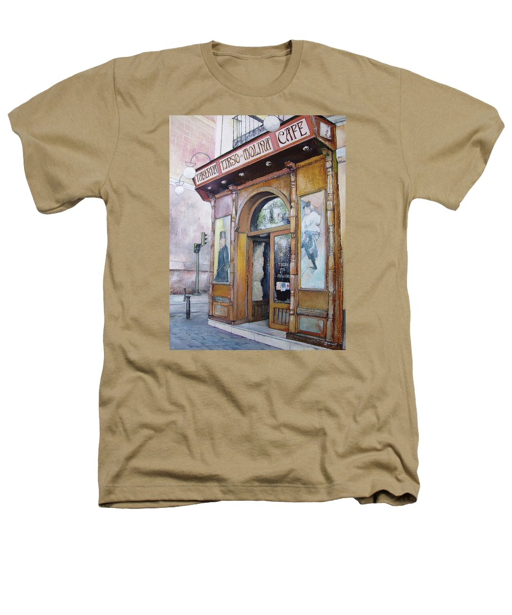 Tirso Heathers T-Shirt featuring the painting Tirso De Molina Old Tavern by Tomas Castano