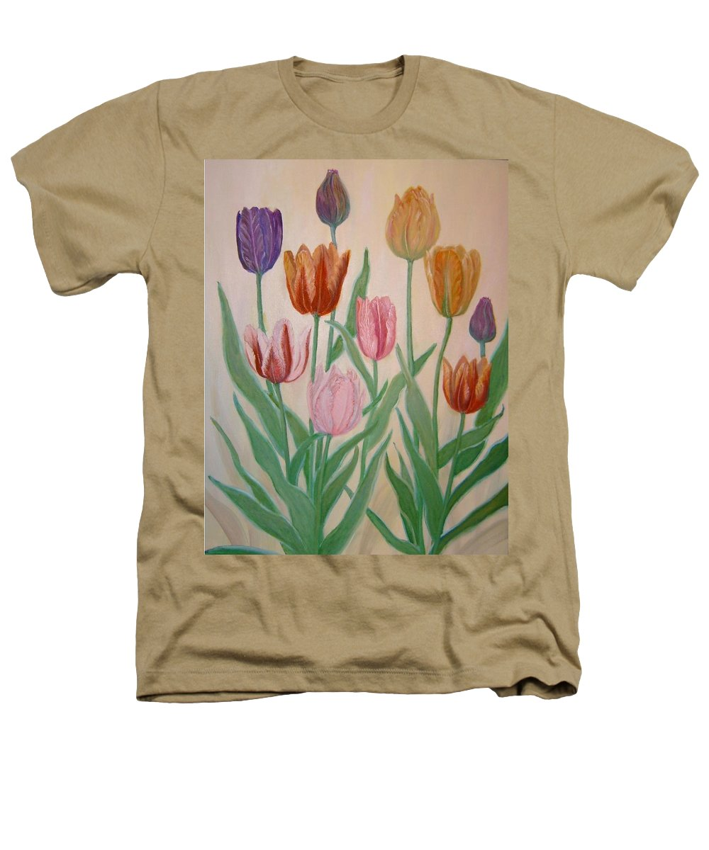 Flowers Of Spring Heathers T-Shirt featuring the painting Tulips by Ben Kiger