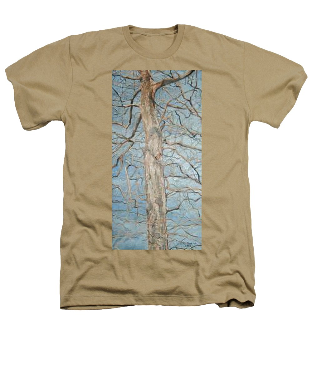 Tree Heathers T-Shirt featuring the painting Winter Morning by Leah Tomaino