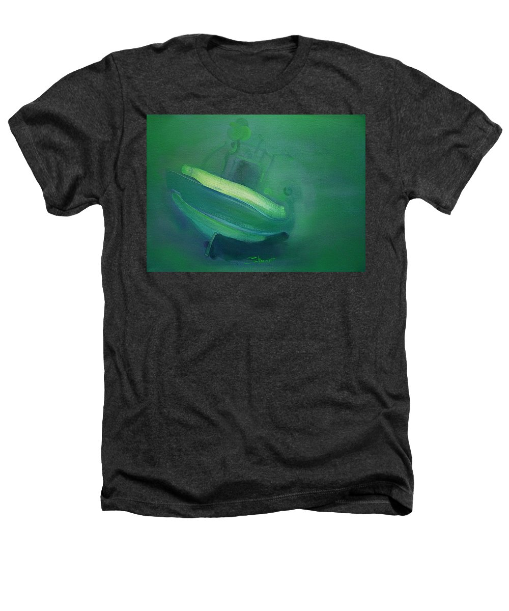 Fishing Boat Heathers T-Shirt featuring the painting Alvor Working Boat by Charles Stuart