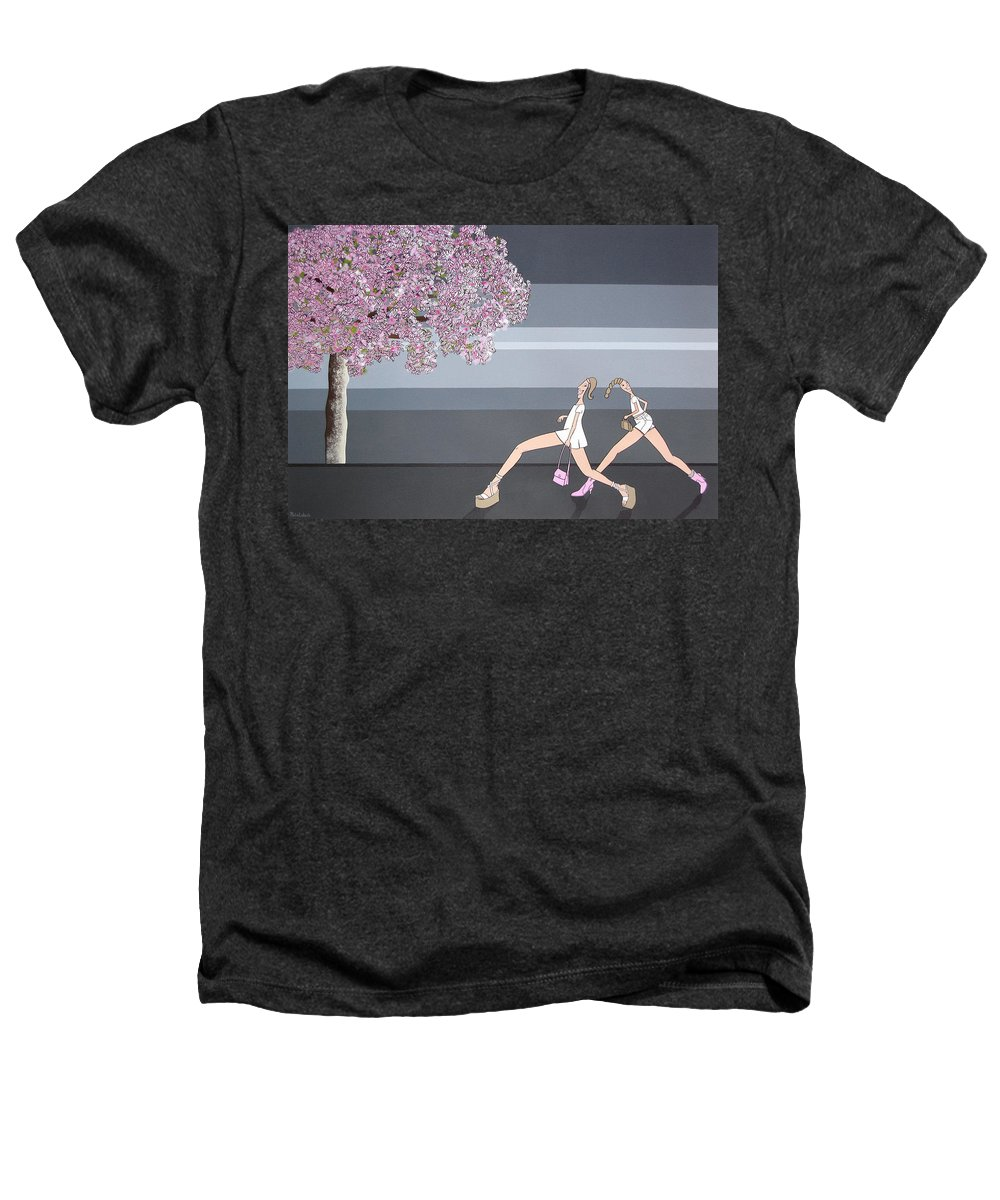 Girls Heathers T-Shirt featuring the painting Fifteen by Patricia Van Lubeck