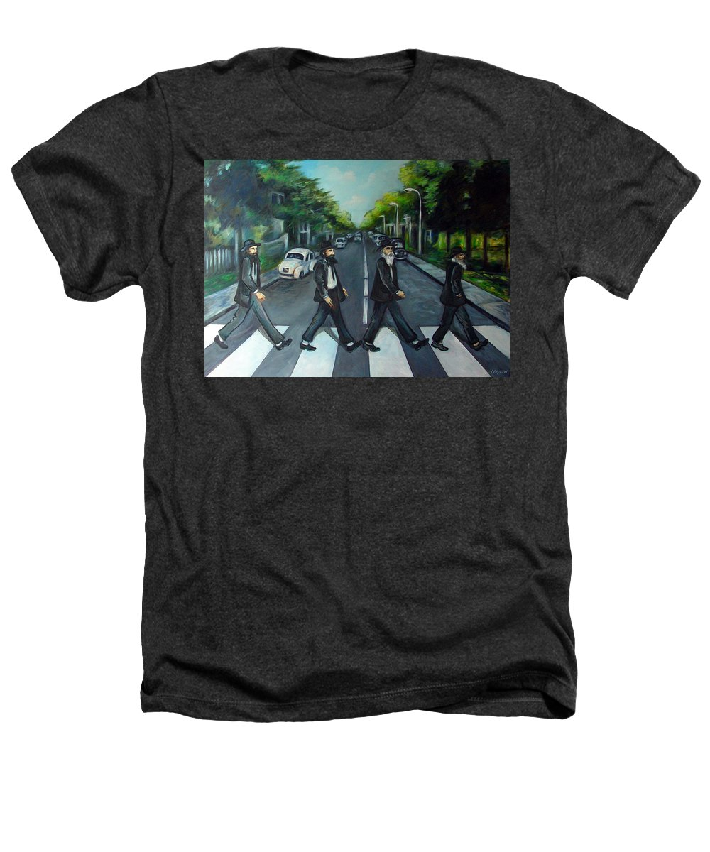 Surreal Heathers T-Shirt featuring the painting Rabbi Road by Valerie Vescovi