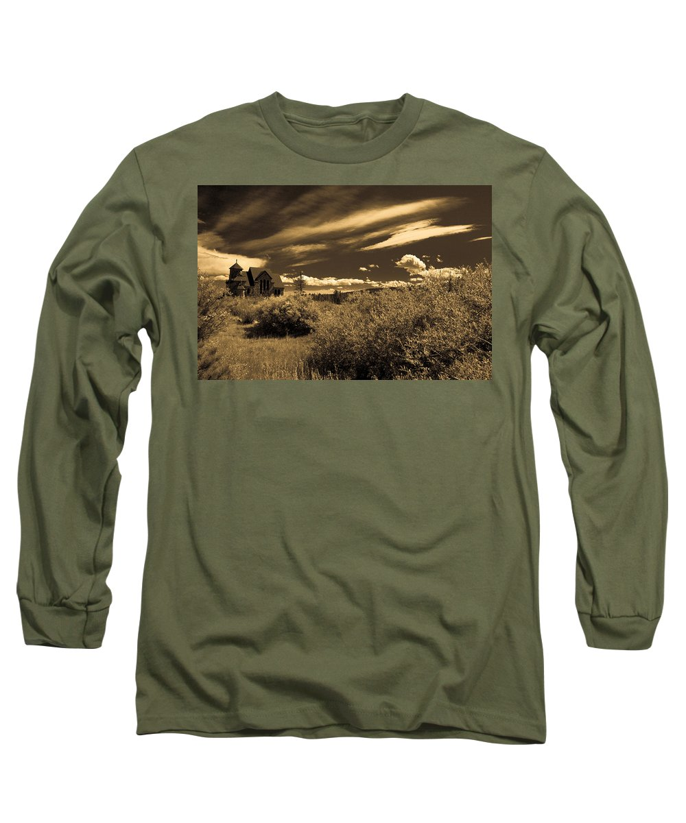 Church Long Sleeve T-Shirt featuring the photograph Small Town Church by Marilyn Hunt