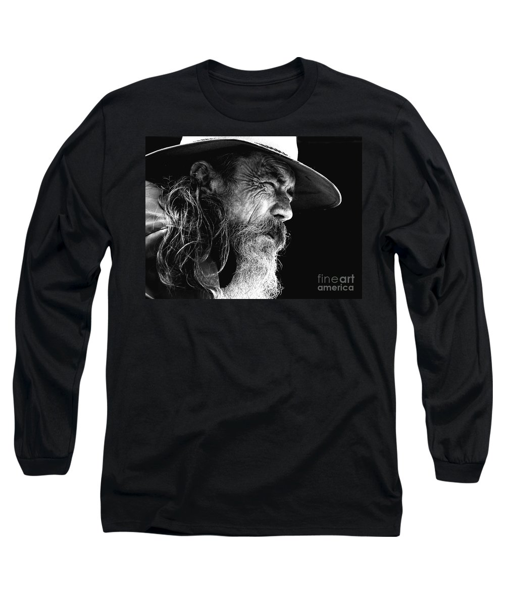 Australian Bushman Hat Long Sleeve T-Shirt featuring the photograph The Bushman by Avalon Fine Art Photography