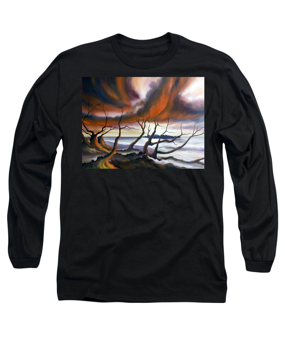 Marsh Long Sleeve T-Shirt featuring the painting Tideland by James Christopher Hill