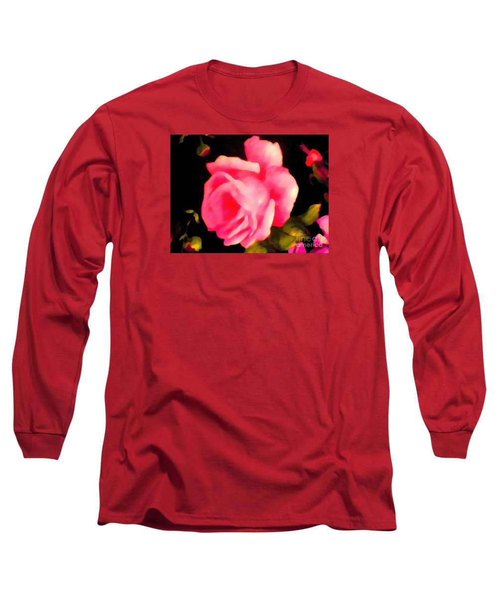 Rosy pink thick painted long sleeve t shirt for sale by for Thick long sleeve shirts