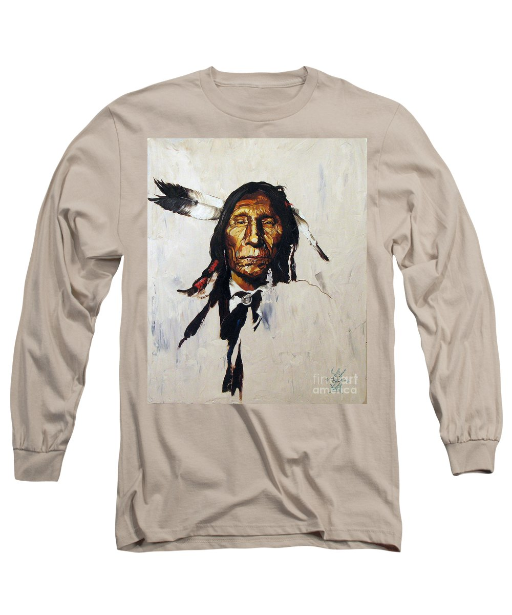 Southwest Art Long Sleeve T-Shirt featuring the painting Remember by J W Baker