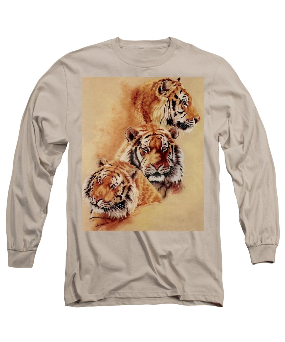Tiger Long Sleeve T-Shirt featuring the painting Nanook by Barbara Keith