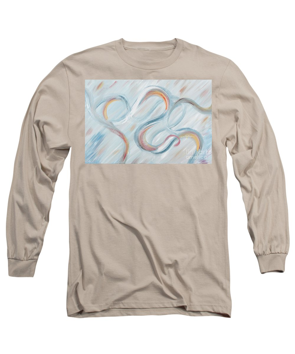 Peace Long Sleeve T-Shirt featuring the painting Peace by Nadine Rippelmeyer