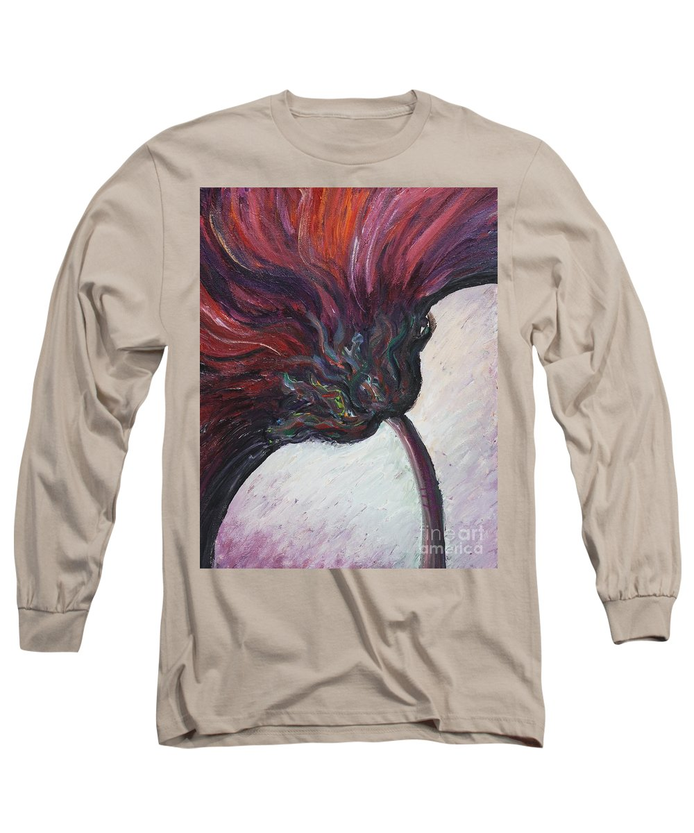 Purple Long Sleeve T-Shirt featuring the painting Power Of Purple by Nadine Rippelmeyer