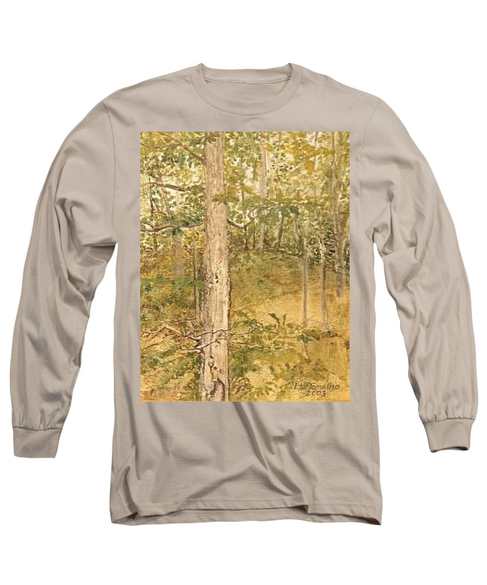 Trees Long Sleeve T-Shirt featuring the painting Raystown Lake by Leah Tomaino