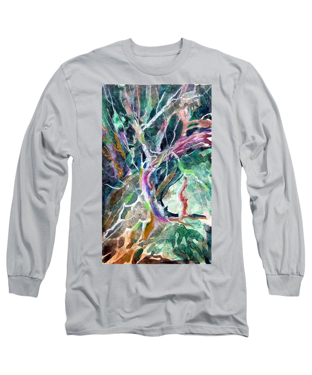 Tree Long Sleeve T-Shirt featuring the painting A Dying Tree by Mindy Newman