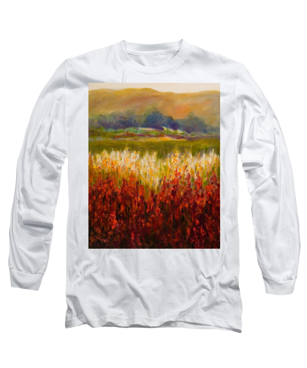 Landscape Long Sleeve T-Shirt featuring the painting Santa Rosa Valley by Shannon Grissom