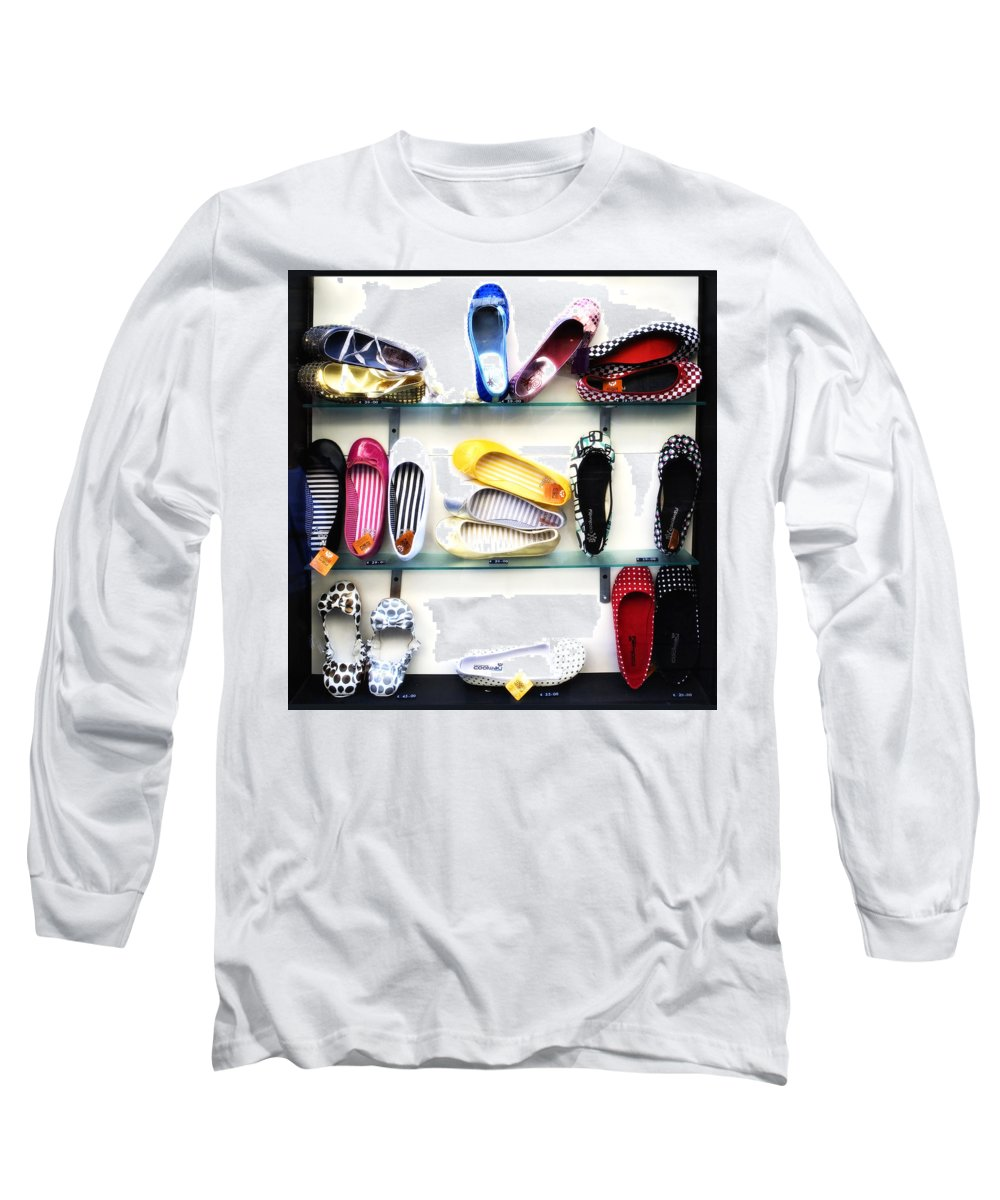 Shoes Long Sleeve T-Shirt featuring the photograph So Many Shoes... by Marilyn Hunt