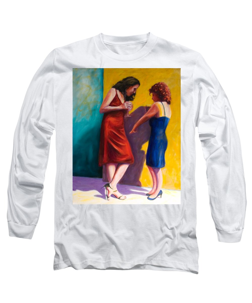 Figurative Long Sleeve T-Shirt featuring the painting There by Shannon Grissom