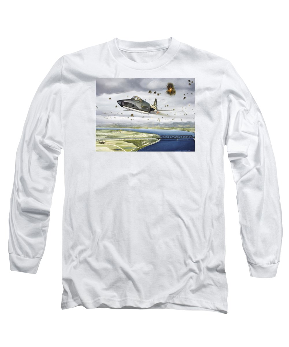 Military Long Sleeve T-Shirt featuring the painting Voodoo Vs The Dragon by Marc Stewart
