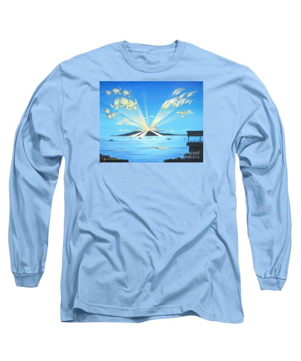 Maui Long Sleeve T-Shirt featuring the painting Maui Magic by Jerome Stumphauzer