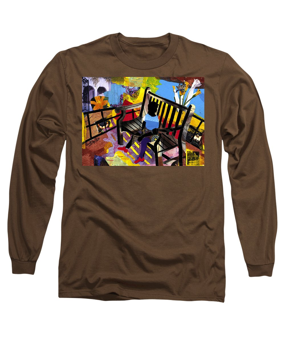 Everett Spruill Long Sleeve T-Shirt featuring the painting Girl In Red Shoes by Everett Spruill