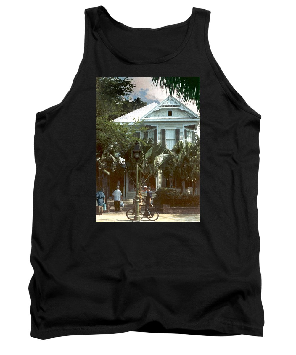 Historic Tank Top featuring the photograph Keywest by Steve Karol